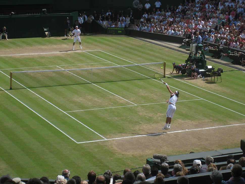Roger Federer and Rafael Nadal at the 2006 Wimbledon Championships