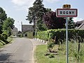 Rogny (Aisne) city limit sign.JPG