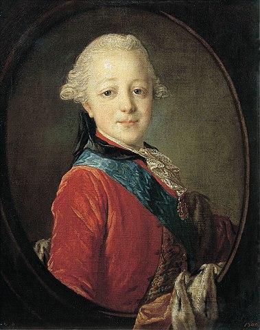Портрет великого князя Павла Петровича в детстве (Фёдор Рокотов, 1761)