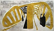 """Elbe Bridge I"" oleh Rolf Nesch"