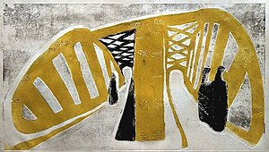 Rolf Nesch - Elbe Bridge I (1932)