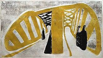 Expressionism - Rolf Nesch, Elbe Bridge I