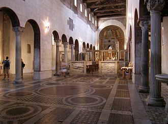 Santa Maria in Cosmedin - Interior of Santa Maria in Cosmedin.