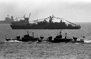Type 025 torpedo boat - Image: Romanian naval ships in 1992