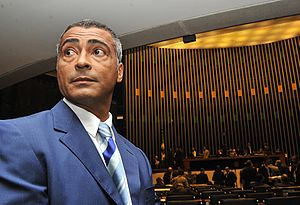 Romário - Romário in the Chamber of Deputies of Brazil on 6 May 2010