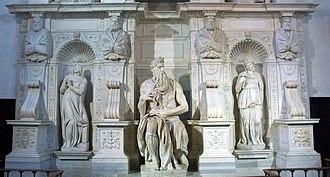 Moses (Michelangelo) - Image: Rome Basilique San Pietro in Vincoli Moïse de Michel Ange