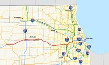 Tollway Illinois Map.Interstate 88 Illinois Wikipedia
