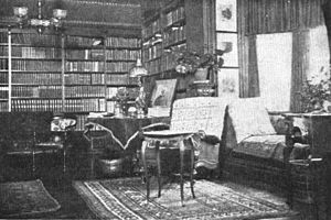 First inauguration of Theodore Roosevelt - Interior of room in Wilcox House where Theodore Roosevelt took the presidential oath of office.