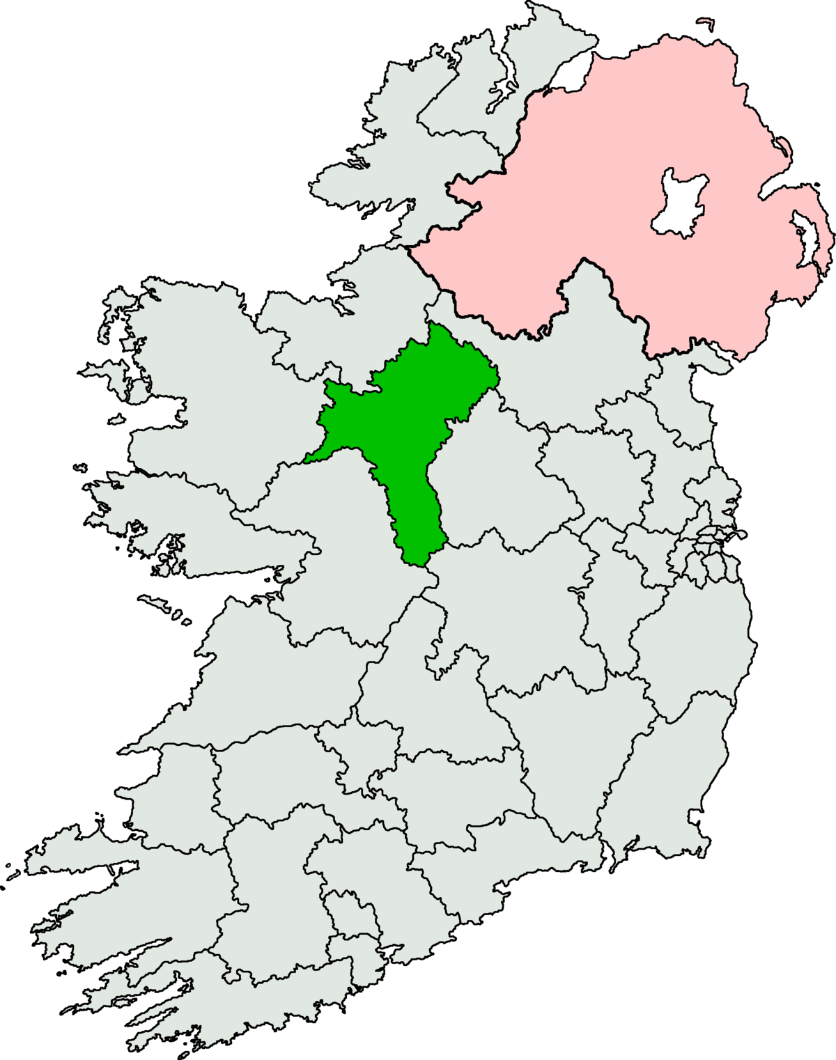 RoscommonSouth Leitrim Byelection Wikipedia - Map of the us without states labeled
