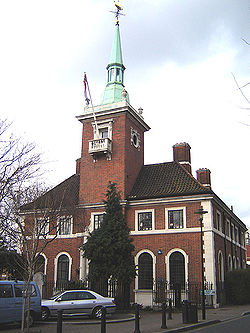 St Olav's, Rotherhithe's Norwegian church. (February 2006)