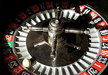 Roulette with red 12 as the winner