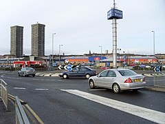 Roundabout at Forge Retail Park - geograph.org.uk - 662477.jpg