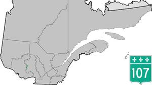 Quebec Route 107 - Image: Route 107 QC