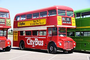 Routemaster RM1993 (ALD 993B), 2010 North Weald bus rally.jpg
