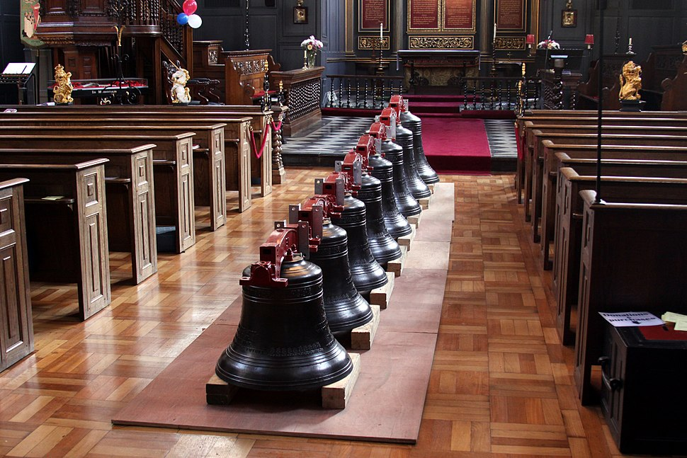RoyalJubileeBells in the church