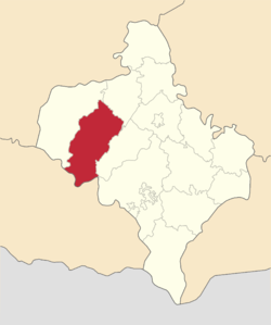 Location of Rožņativas rajons