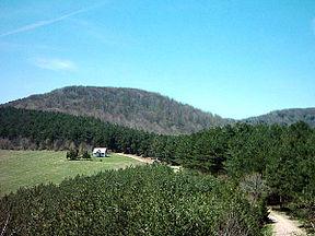 Један од врхова Рудника, Јавор (1107 m)