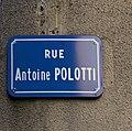 Rue Antoine Polotti (Grenoble) - panneau de rue.jpg