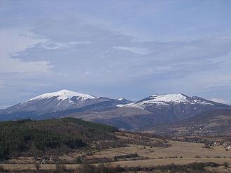 Ruy (mountain) - Ruy Mountain seen from the Erma Valley in Bulgaria