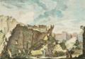 Ruinas da Torre de S. Roque ou Torre do Patriarca após o Terramoto de 1755 - Jacques Philippe Le Bas, 1757.png