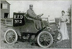 Rural Free Delivery - Rural Free Delivery vehicle (from Popular Mechanics, September 1905)