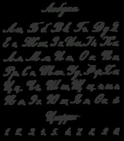 Русское рукописное письмо начала xx