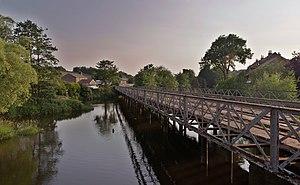 Ruswarp railway station - The bridge over the River Esk just to the west of the station.