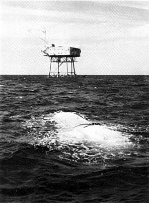 SEALAB - SEALAB I off Bermuda in 1964.