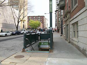 36th Street station (SEPTA) - The northeast corner entrance to Sansom Common SSTL station.