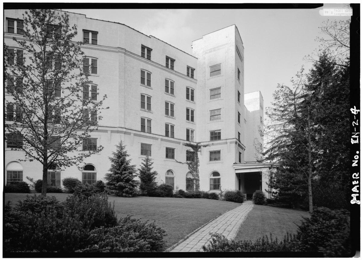 File:SOUTHWEST ELEVATION - West Baden Springs Hotel, State ...