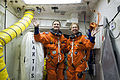 STS-135 Rex Walheim and Sandy Magnus in the White Room.jpg