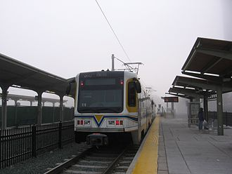 Sacramento Valley Station - A Gold Line train at Sacramento Valley Station