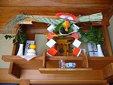 Japan Shimenawa size 18cm with rice ear Shimenawa wreath 0632