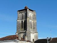 Saint-Astier (Dordogne) église clocher.JPG