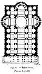 Proyecto de Rafael.  Basílica de San Pedro Vaticano