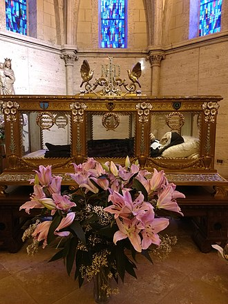 Nevers - The incorrupt body of Saint Bernadette, seer of Our Lady of Lourdes apparitions.