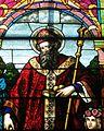 Saint Nicholas Church (Osgood, Ohio) - stained glass, Saint Nicholas - detail.jpg