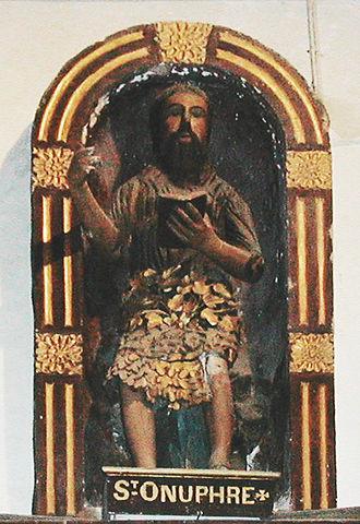 "Onuphrius - Onuphrius depicted as a ""wild man""."