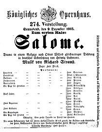 Salome by Richard Strauss playbill of 1905 premiere.jpg