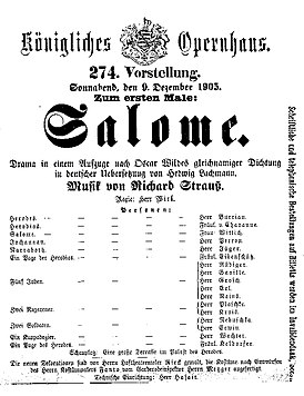 Salome by Richard Strauss playbill of 1905 premiere.jpg