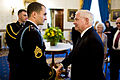 Salvatore Giunta & Robert Gates before Medal of Honor presentation ceremony 2010-11-16.jpg