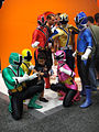 San Diego Comic-Con 2011 - Power Rangers pose with kids (Nickelodeon booth) (5977353568).jpg