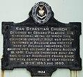 San Sebastian Church (Manila) historical marker.jpg