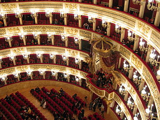 Teatro di San Carlo - Interior view on to the royal box