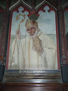 Malo (saint) Welsh saint who became founder of Saint-Malo in Brittany.