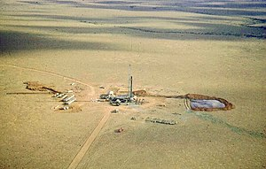 Santos Limited - Santos drill rig near Innamincka in cooper basin 1959