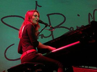 Sara Bareilles - Bareilles's success with Little Voice led her to tour Europe; she is pictured here in her first tour of the Netherlands.