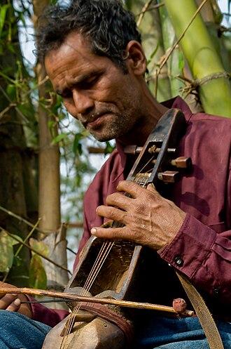 Sarangi (Nepali) - A bamboo sarangi from Nepal