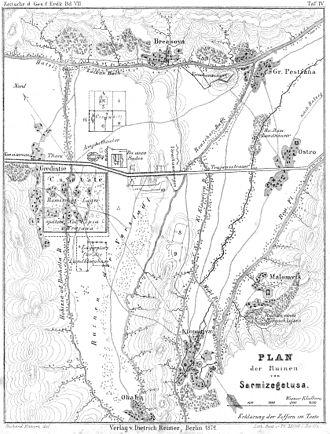 Ulpia Traiana Sarmizegetusa - Plan of the settlement