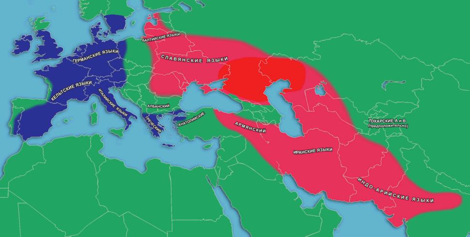Satem and kentum languages map in Eurasia